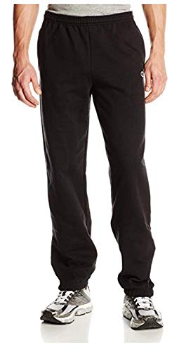 Champion Men's Elastic Hem Eco Fleece Sweatpant, Black, Large
