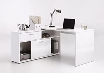 high gloss office furniture. Dievo SuperUP High Gloss White Computer Office Corner Desk With Shelving: Amazon.co.uk: Kitchen \u0026 Home Furniture