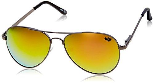 Flying machine Aviator Sunglasses (Shiny Gun) (FMS-111|205|FREESIZE)