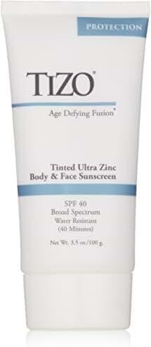 TIZO Ultra Zinc Body & Face Sunscreen Tinted SPF 40 , 3.5 oz