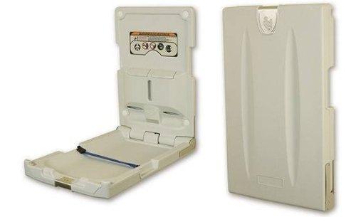 Sicherheitswickeltisch aus Kunststoff Vertikal mit Blindenschrift-Anweisung
