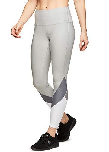 (RBX Active Women's Colorblock Ankle Running Yoga Leggings CB Black M)