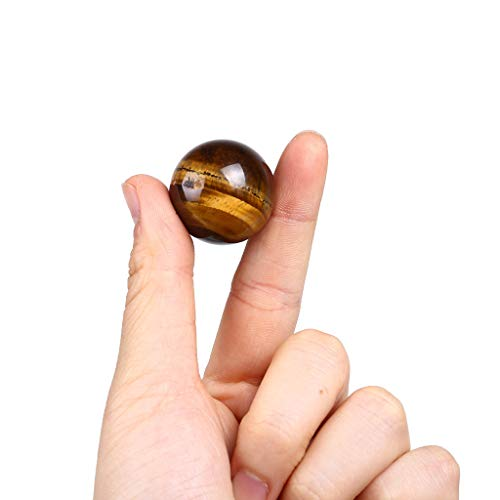 Buoyee Dark Yellow Asian Rare Tiger Eye Quartz Crystal Healing Ball Sphere 2.5mm Toy (Multicolor)