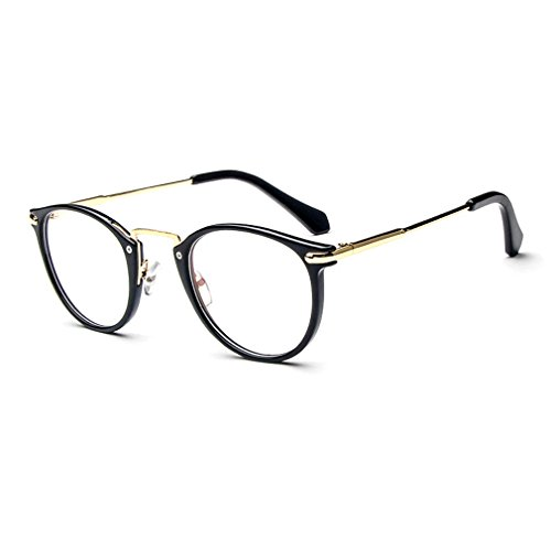 LOMOL Fashion Korean Personality Student Style Transparent Lens Frame Glasses For - O Frame Lenses Oakley Mirror