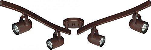 Nuvo Lighting TK383 Mr16 Hal Swvl TRK Fxtr Track Kit, Russet - Finish Russet Glass