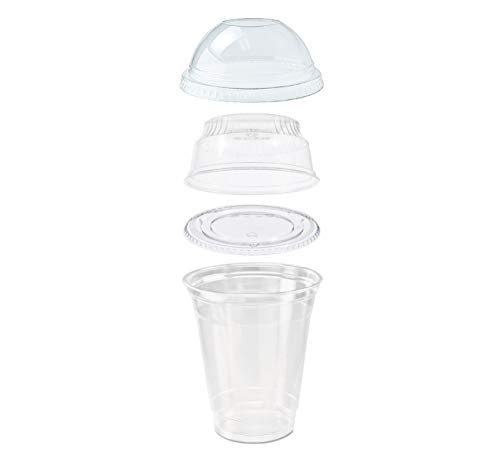 (25 count Grab n' Go Parfait/Snack Cup, Includes Insert with Lid, and Dome Lid with Signature Party Picks (12 ounce))