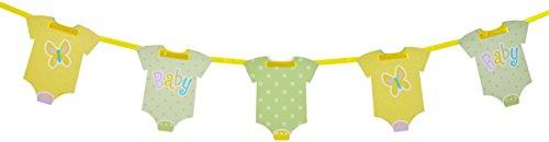 6.5ft Polka Dot Onesie Baby Shower Paper Garland