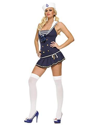 Leg Avenue 83272B Shipmate Cutie Sexy Adult Costume - Medium/Large - Blue/White