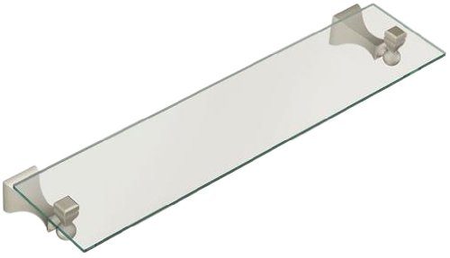 Moen DN8390BN Retreat Glass Shelf, Brushed Nickel - Mounted Bathroom ...