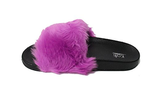 Flat Limit Faux Fur Flip Slide Kali Purple Footwear Slipper Soft Women's Flop AR768w