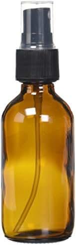 GPS 712OZSPPK12BR Amber Boston Round Glass Bottle with Fine Mist Sprayer, 2 oz. (Pack of 12)