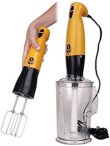 Rocco ROHB300MU 330W 2-Speed Immersion Hand Blender w Accessories Mustard