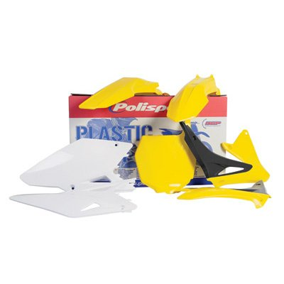 Polisport Plastics Kit Yellow for Suzuki RM 125 250 01-08 by Polisport (Image #1)