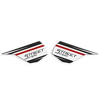 Black 2 2018 L-036 RX 2013 RS PROTEZIONI LATERALI SERBATOIO TRIUMPH STREET TRIPLE R