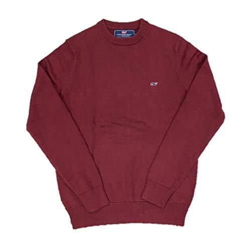 - Vineyard Vines Men's Whale Cotton Cashmere Crewneck Sweater (Large, Crimson)