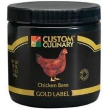 Custom Culinary Gold Label Chicken Base, 50 Pound -- 1 each. by Custom Culinary