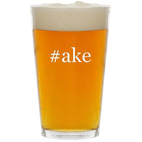 #ake - Glass Hashtag 16oz Beer Pint