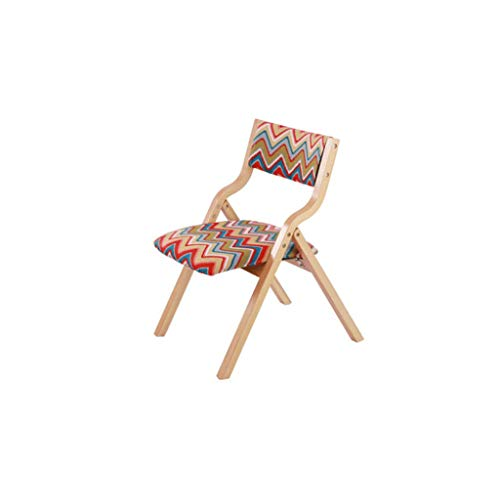 Love lamp Folding Camping Chair Household Wood Folding Chair Office Chair Computer Chair Outdoor Leisure ()