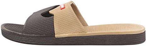 レディース スリッパ スリッパ2020新しい男性と女性は快適な屋内家庭用バスルームバスサンダルとスリッパノンスリップ耐摩耗性を着用します ZHAOFENGE (Color : Brown, Size : 41)