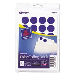 - Avery 05469 Removable Round Labels, 3/4