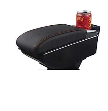 SZSS-CAR Leather Car Center Console Armrest Box for Honda Fit Jazz Hatchback 2009 2010 2011 2012 2012 2013 Armrests Storage Box Gray