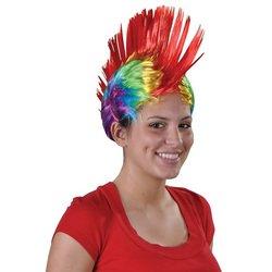 RAINBOW MOHAWK WIG ADULT GAY Lesbian