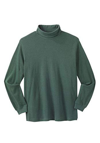 Mens Interlock Cotton Turtleneck (KingSize Men's Big & Tall Turtleneck Long-Sleeve Cotton Tee, Heather Hunter)