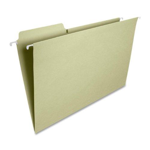 Smead FasTab Hanging File Folder, 1/3-Cut Built-In Tab, Legal Size, Moss, 20 per Box (64083)