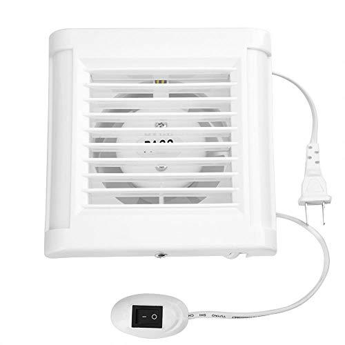 Bathroom Exhaust Fan, 15W 220V Wall Mounted Exhaust Fan Low Noise Home Bathroom Kitchen Window Garage Air Vent Ventilation (220v Bathroom Exhaust Fan)