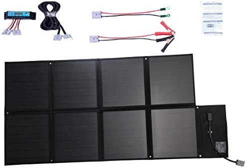 12v 120w Folding Solar Blanket Kit Black Silicon Panel Generator Power Charger With Enhanced Lead Cable Amazon Com Au Automotive