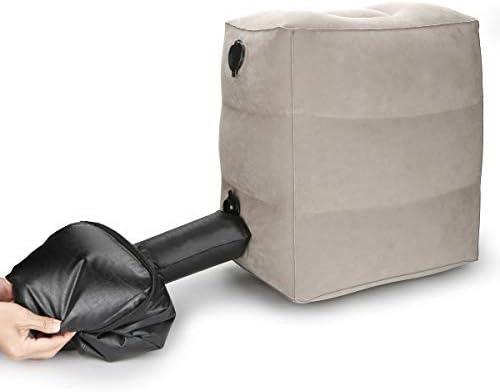 13 opinioni per Cuscino poggiapiedi gonfiabile, cuscino da viaggio all-in-one regolabile in tre