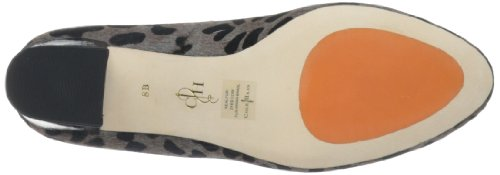 Cole Haan Donna Chelsea Flared-heel Pump Grigio Ocelot Print