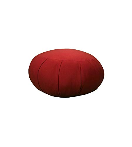 Inflatable Zafu Meditation Cushion (Burgundy)