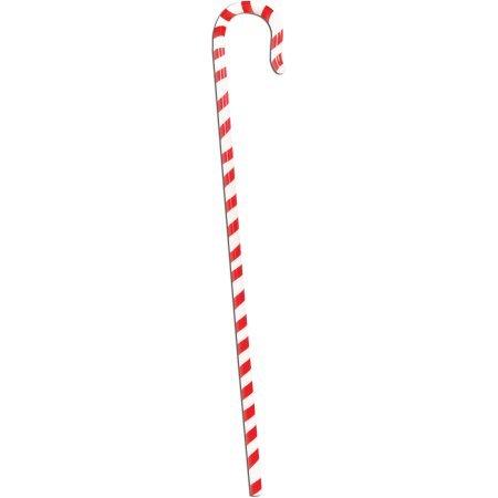 Festive Holiday Christmas Candy Cane Walking Stick Costume Accessory (Festive Costume)