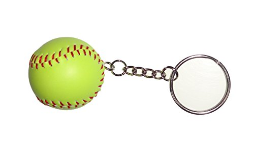 ACI PARTY AND SPIRIT ACCESSORIES Softball Key Chain 1.25