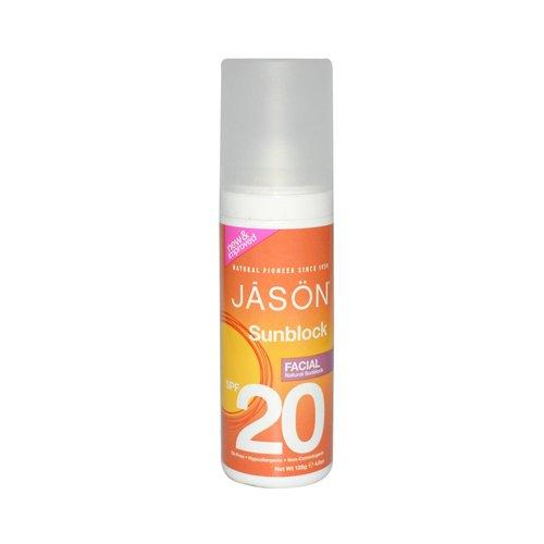2 Packs of Jason Sunbrellas Natural Facial Sunblock Spf 20 - 4.5 Fl (Sunbrella Sunblock)