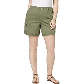 Style & Co Plus Size Cargo Shorts - Green - 18W