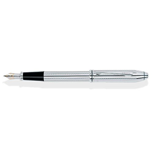 Cross Townsend Platinum-Plated Fountain Pen with Two-Tone 18KT Gold & Rhodium-Plated Medium Nib Cross Townsend Platinum Fountain Pen