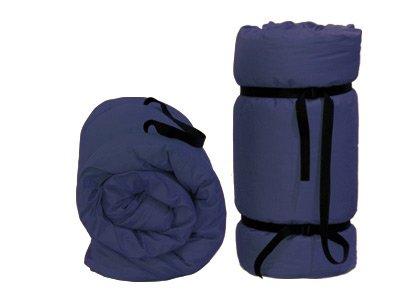 Tragbare Futon Blau, 200x80x4 cm