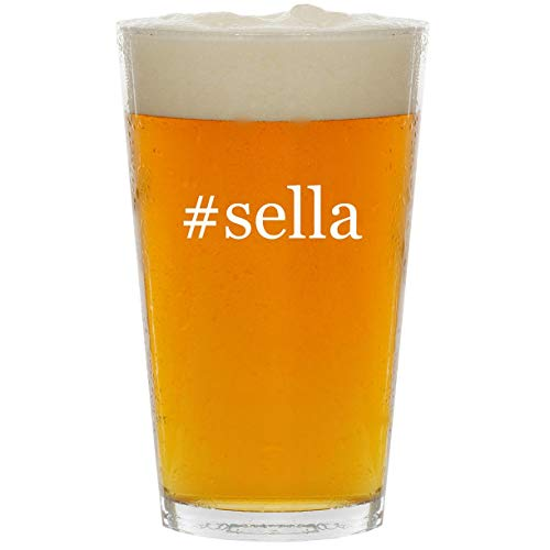 #sella - Glass Hashtag 16oz Beer Pint
