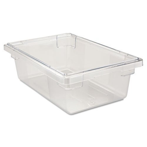 (Rubbermaid Commercial 3309CLE Food/Tote Boxes, 3 1/2 gal, 18 w x 12 d x 6 h, Clear)