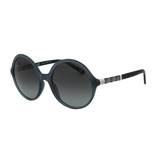 Escada Crystal - ESCADA SES 399 Women Gray Clear Swarovski Crystals Embellished Round Sunglasses