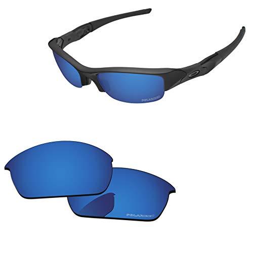 (PapaViva Lenses Replacement for Oakley Flak Jacket Deep Water - Polarized)