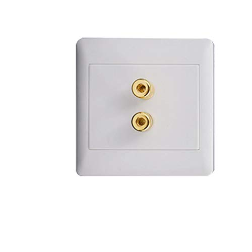 (Aexit White Square Wall Plates Audio 2 Binding Post 1 Speaker Banana Connector Outlet Plates Wall Plate )