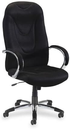 Lorell Hi-Back Executive Chair, 30-1 2 by 25-1 2 by 47-Inch to 50-1 2-Inch, Black
