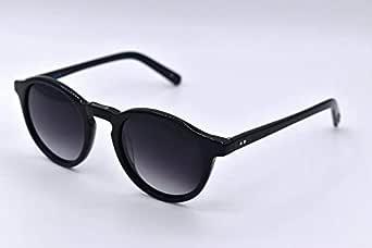 Jeans Club Round Sunglasses Unisex JS0045 C1 Black Size 47
