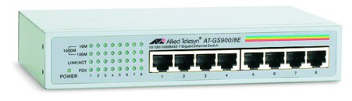 Allied Telesyn 8PORT 1000BT Gig Unmgd Switch External Ps