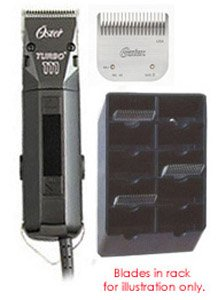 Oster 111 Blades & Rack Combo - Turbo 111 Clipper With 2-blades, #2 Blade & Blade Rack (Oster Rack Replacement compare prices)