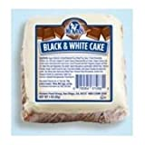 Ne Mos Black and White Cake Square - 6 count per pack - 6 packs per case.