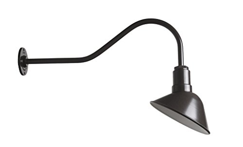 The Venice Gooseneck Sign Light | Restaurant or Accent Wall Light | Shines Light Back Towards The Wall | Barn Lighting Style for Your Modern Farmhouse (23